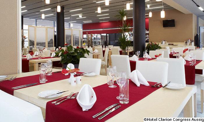 Radreise von Prag nach Dresden – Hotel Clarion Congress Aussig Restaurant