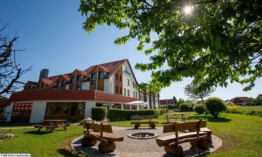 Bundesgartenschau 2021 – Best Western Hotel Apfelstädt Außenansicht