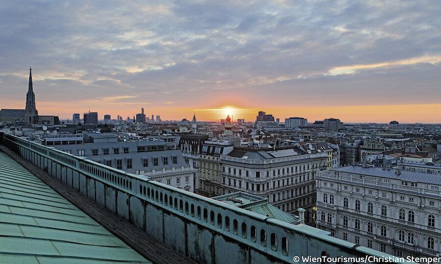 Wien über den Dächern