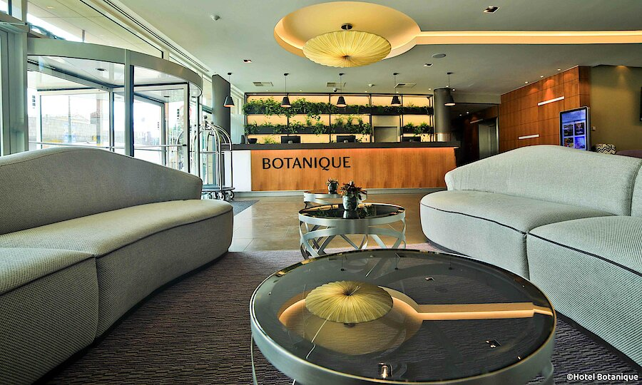Feiertage in Prag – Hotel Botanique Rezeption