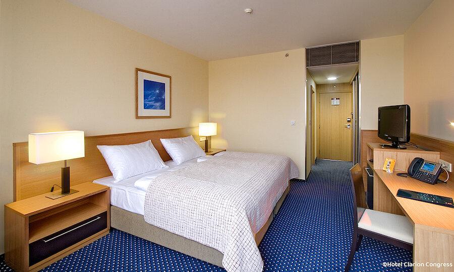 Silvester in Prag – Hotel Clarion Zimmer