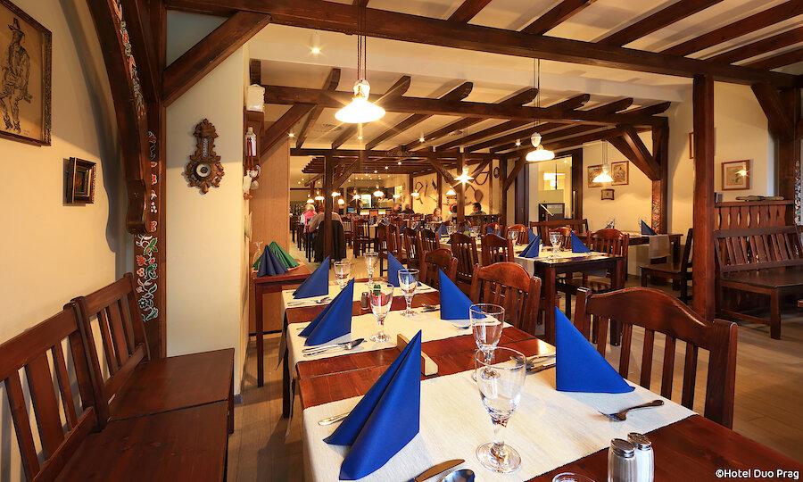 Radreise von Prag nach Dresden – Hotel Duo Prag Restaurant
