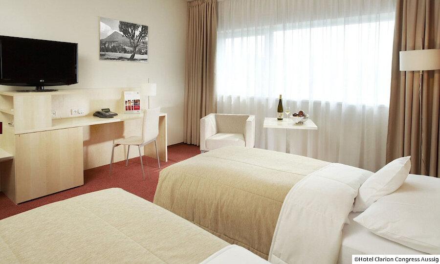 Radreise von Prag nach Dresden – Hotel Clarion Congress Aussig Zimmer