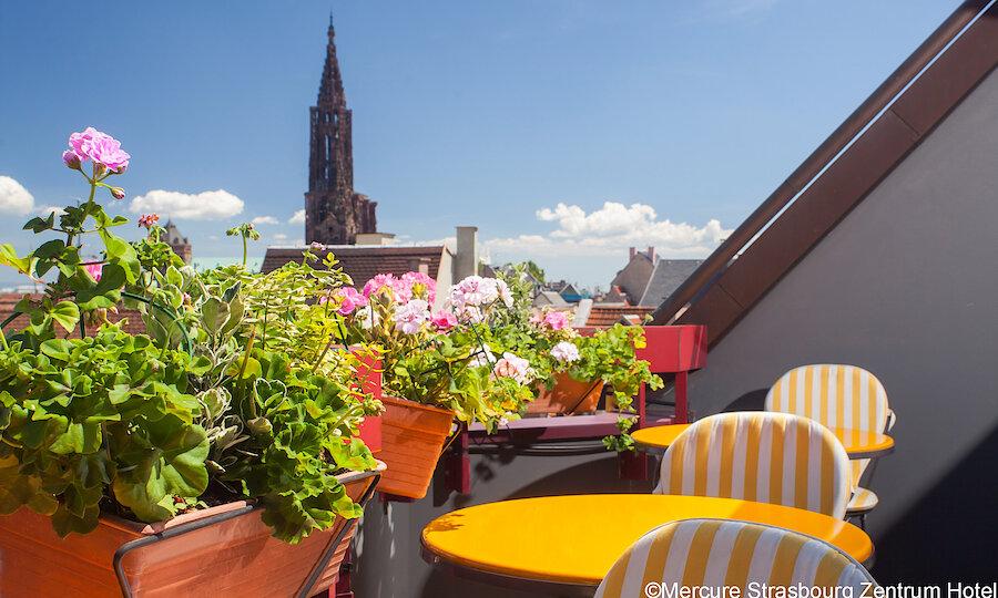 Städtereise Strasbourg – Mercure Strasbourg Zentrum Terrasse