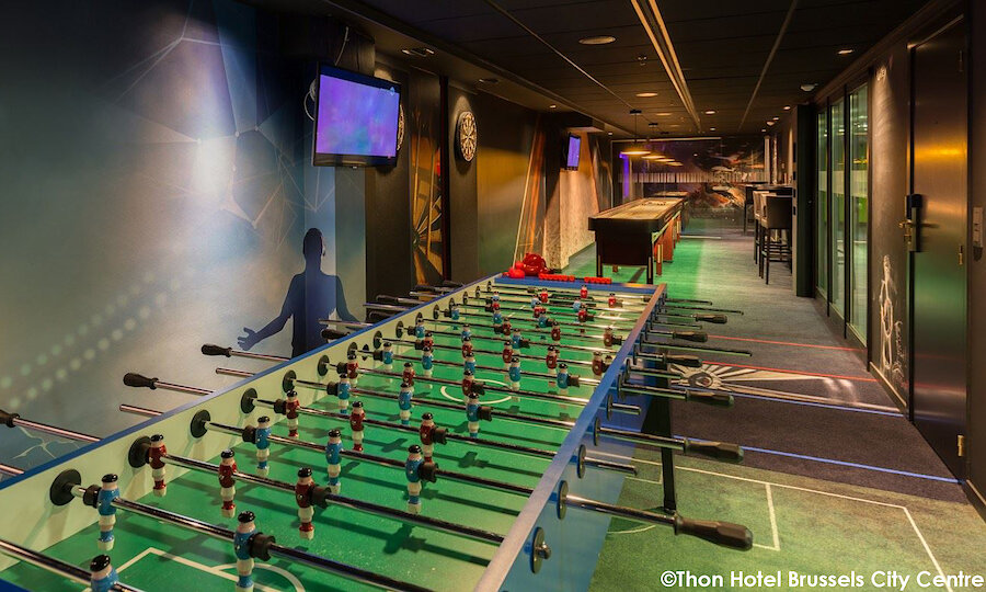Städtereise Brüssel – Thon Hotel Brussels City Center Game-Raum