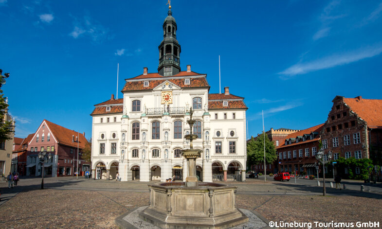 Heidezauber in der Lüneburger Heide – Lüneburg Rathaus