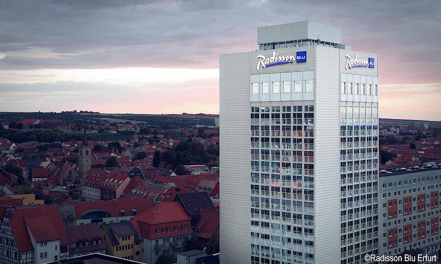 Silvester in Erfurt – Radisson Blu Hotel Erfurt Außenansicht