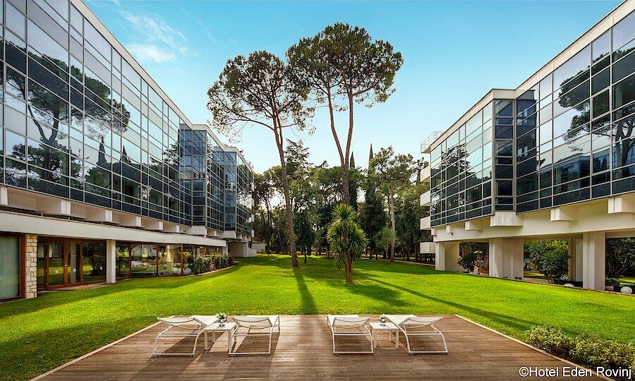 Urlaubsreise Kroatien – Hotel Eden Rovinj Garten