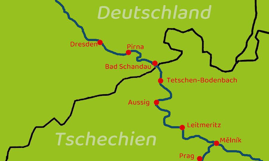 Radreise von Prag nach Dresden – Prag - Dresden