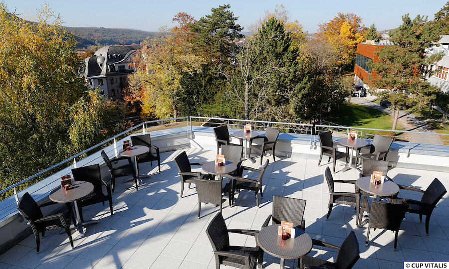 Erholung pur in Bad Kissingen – Parkhotel Cup Vitalis Bad Kissingen Terrasse