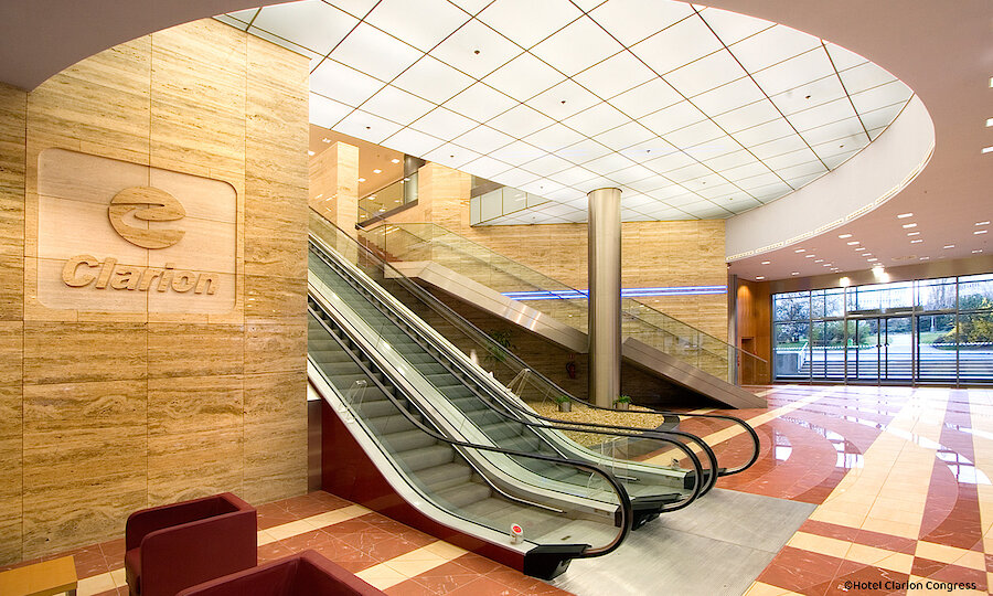 Silvester in Prag – Hotel Clarion Lobby