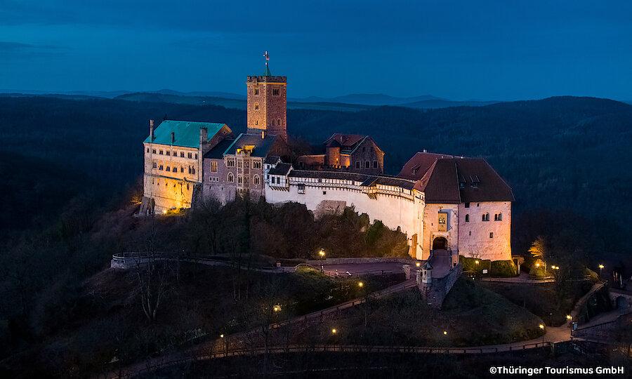 Bundesgartenschau 2021 – Eisenach Wartburg bei Nacht