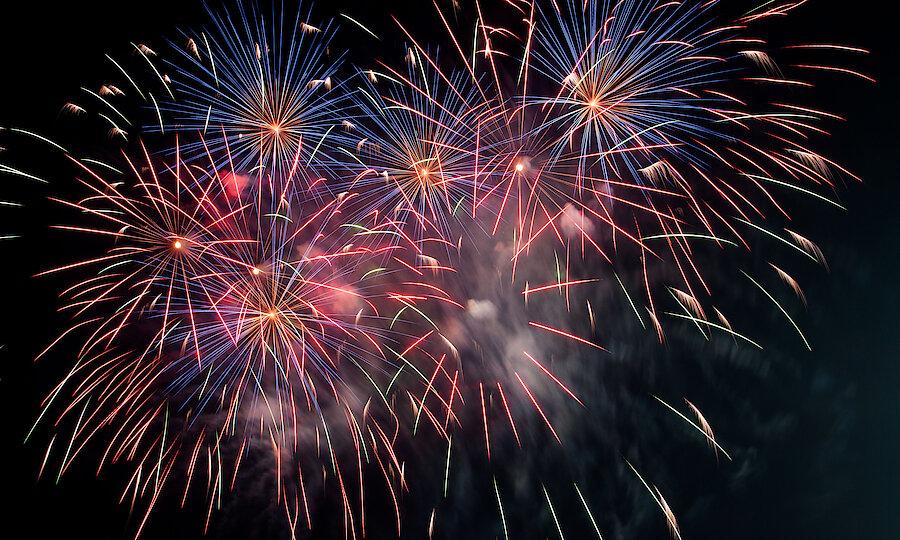 Romantische Straße Silvester Feuerwerk
