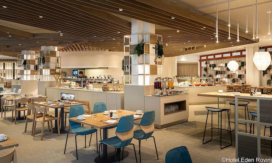 Urlaubsreise Kroatien – Hotel Eden Rovinj Frühstückssaal