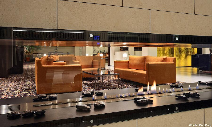 Radreise von Prag nach Dresden – Hotel Duo Prag Lobby