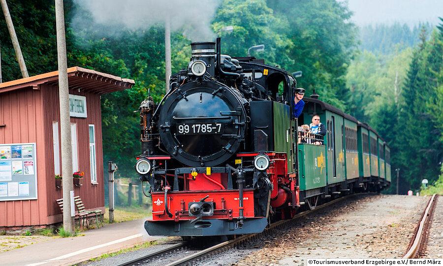 Frühling im Erzgebirge – Erzgebirge Schmalspurbahn Fichtelberg