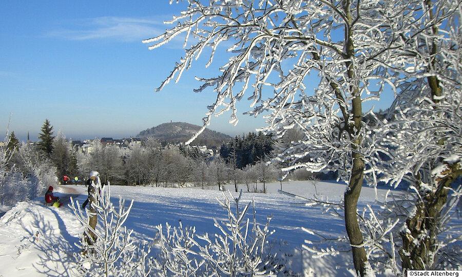 Winter im Erzgebirge – Erzgebirge Altenberg im Schnee