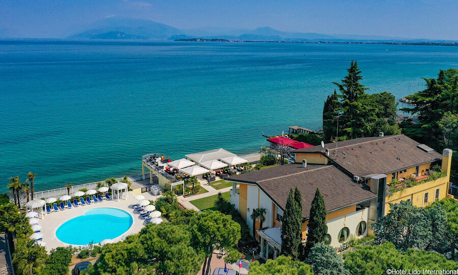 Lugana Weinreise Gardasee – Hotel Lido International Überblick Hotelanlage