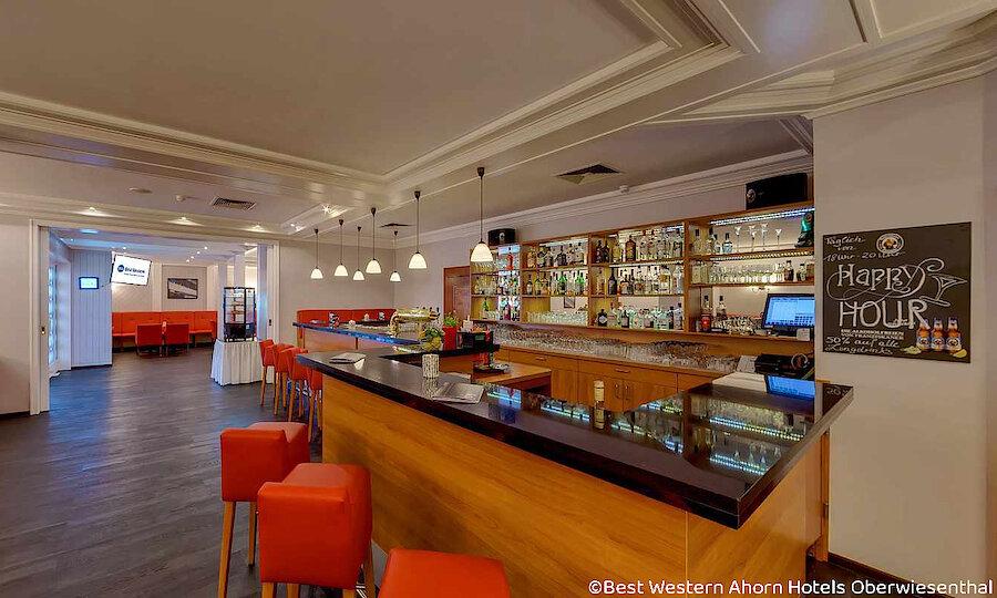 Winter im Erzgebirge – Best Western Ahorn Hotel Oberwiesenthal Bar